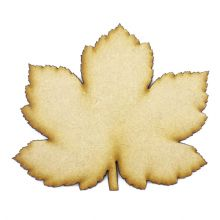 Hard Maple Leaf cut from 3mm MDF, Craft Blanks, Shapes, Tags, Autumn Leaf